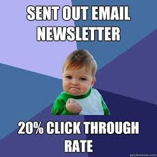 Email marketing meme