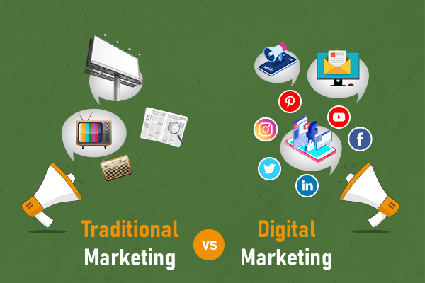 Difference between Traditional marketing & Digital Marketing